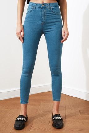 TRENDYOLMİLLA Indigo Yüksek Bel Skinny Jeans TWOSS20JE0301 3