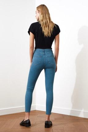 TRENDYOLMİLLA Indigo Yüksek Bel Skinny Jeans TWOSS20JE0301 4