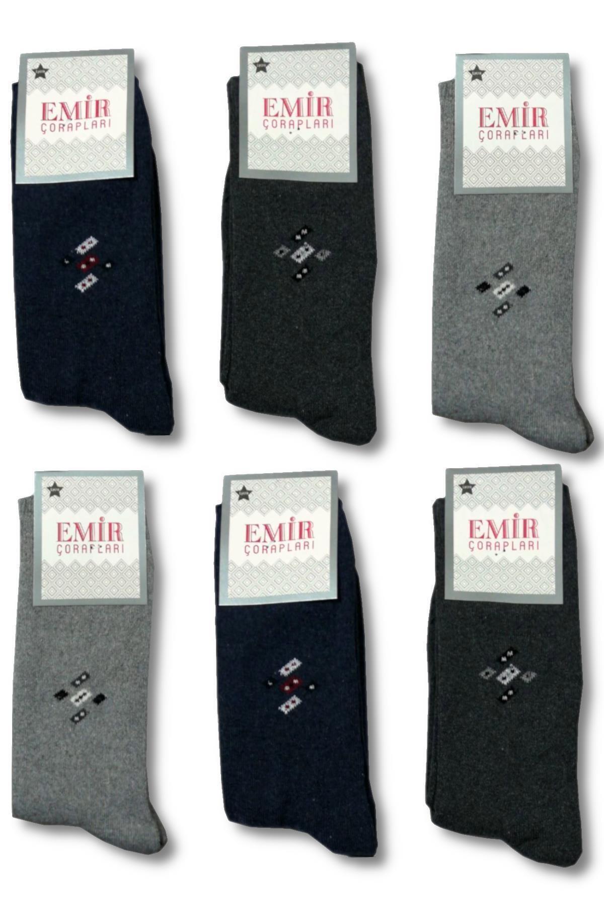 6 Çift Emir Kalın Kışlık Havlu Erkek Çorap