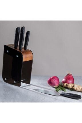 Emsan Kumsal Siyah Standlı Bıçak Seti  6 Parça 2