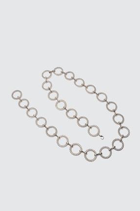 TRENDYOLMİLLA Gümüş Zincirli Ayarlanabilir Kemer TWOSS21KE0014 3