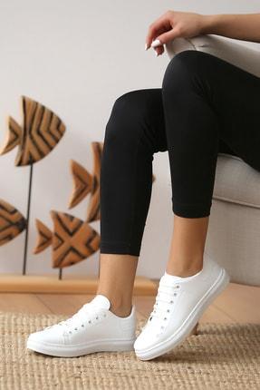 Pembe Potin Kadın Beyaz Casual Ayakkabı 0
