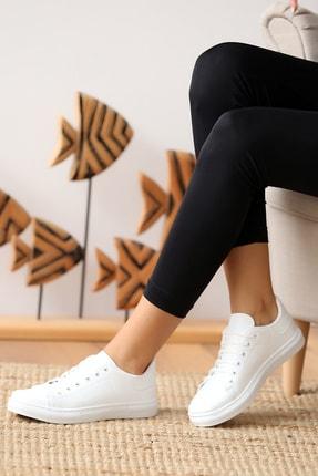 Pembe Potin Kadın Beyaz Casual Ayakkabı 1