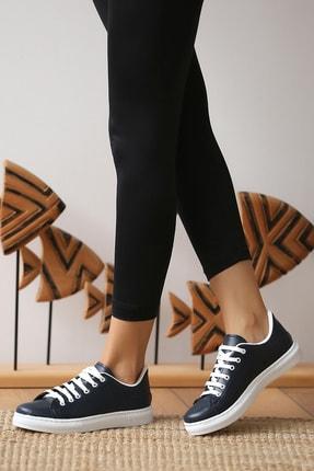 Pembe Potin Kadın Lacivert Casual Ayakkabı 1