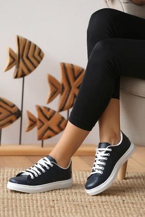 Pembe Potin Kadın Lacivert Casual Ayakkabı 2