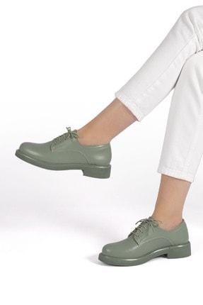 Marjin Kadın Yeşil Oxford Ayakkabı Terva 1