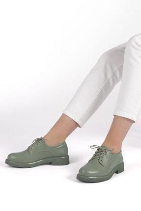Marjin Kadın Yeşil Oxford Ayakkabı Terva 3