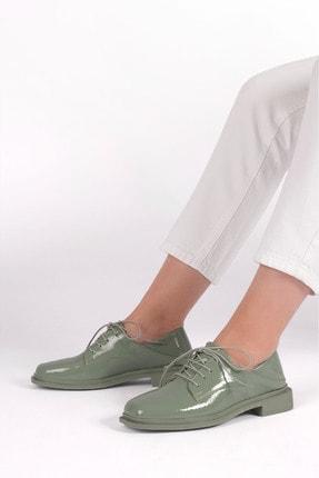 Marjin Kadın Yeşil Rugan Oxford Ayakkabı Rilen 1