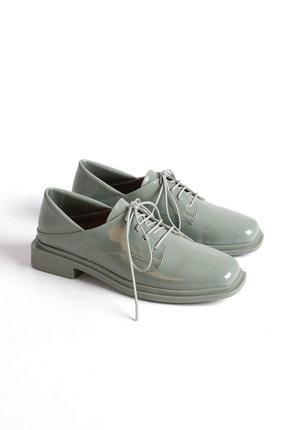 Marjin Kadın Yeşil Rugan Oxford Ayakkabı Rilen 2
