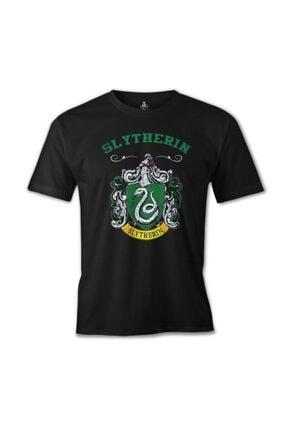Lord T-Shirt Erkek Siyah Hogwarts Slytherin Baskılı T-shirt 0