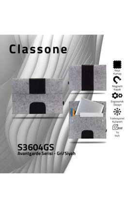 """Picture of Avantgarde S3604GS 13-14"""" Macbook, Mac Air,Notebook, Laptop Keçe Kılıf- Gri-Siyah"""