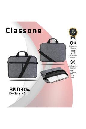 Classone Gri 15,6 inç Uyumlu Laptop Notebook El Çantası BND304 4