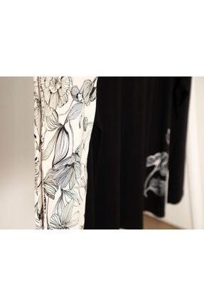 English Home Big Flower Viskon Pijama Takımı L-xl Siyah - Beyaz 1