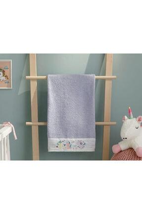 English Home Mini Unicorn Bebe Banyo Havlusu 70x130 Cm Lila 0