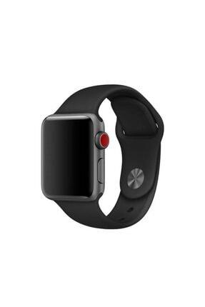 Melefoni Apple Watch Uyumlu 42 Mm Kordon Silikon Kayış Siyah 0