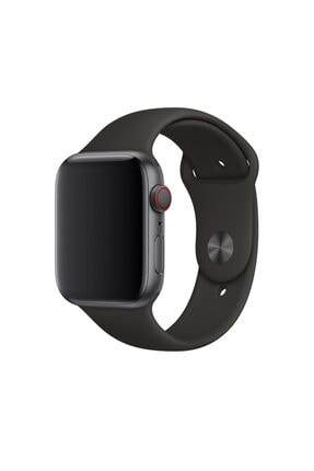 Melefoni Apple Watch 44mm Kordon Silikon Kayış Siyah 2