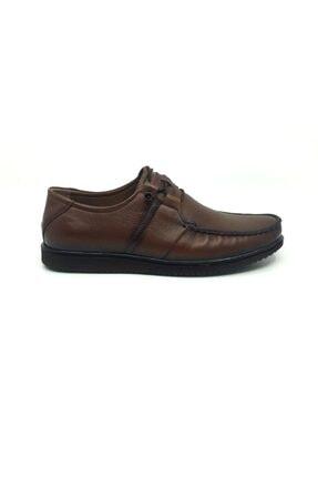 Taşpınar Erkek Kahverengi Deri Yazlık Rahat Tam Ortopedik Ayakkabı 39-45 1