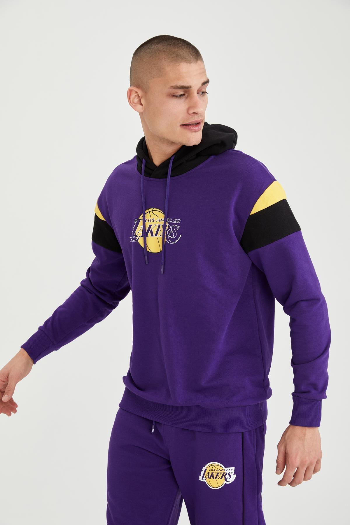 Defacto Erkek NBA Lisanslı Oversize Unisex Kapüşonlu Sweatshirt T7557AZ21SP 0