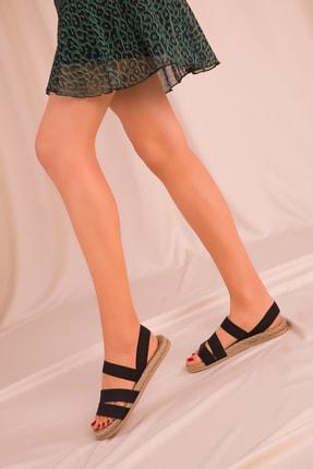 Soho Exclusive Siyah Kadın Sandalet 15098 2