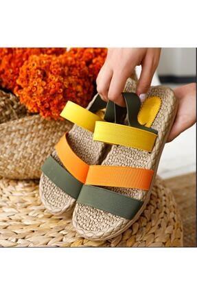 Muggo Şeritli Kadın Sandalet 2