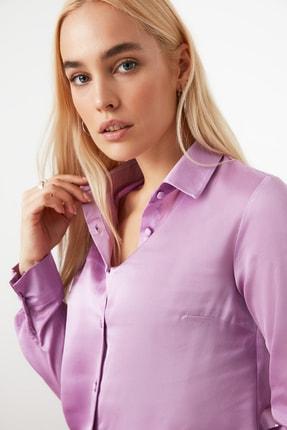 TRENDYOLMİLLA Lila Basic Gömlek TWOAW20GO0465 3