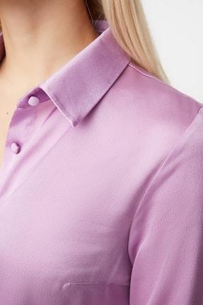 TRENDYOLMİLLA Lila Basic Gömlek TWOAW20GO0465 4