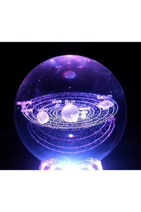 ÇILGIN Güneş Sistemi Işıklı Cam Küre 0