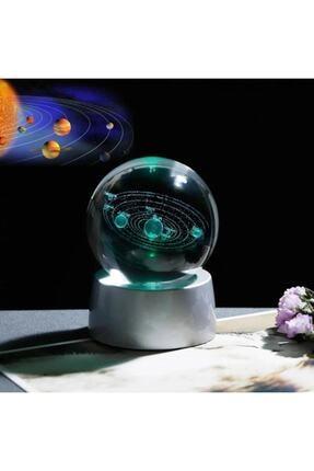 ÇILGIN Güneş Sistemi Işıklı Cam Küre 1