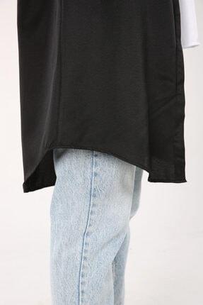 ALLDAY Siyah Gizli Patlı Gömlek Tunik 3