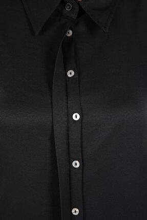 ALLDAY Kadın Siyah Gizli Patlı Uzun Tunik 3