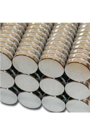 Dünya Magnet 10 Adet Çap 15mm x Kalınlık 3mm Yuvarlak Süper Güçlü Neodyum Mıknatıs 2