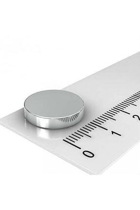 Dünya Magnet 10 Adet Çap 15mm x Kalınlık 3mm Yuvarlak Süper Güçlü Neodyum Mıknatıs 3