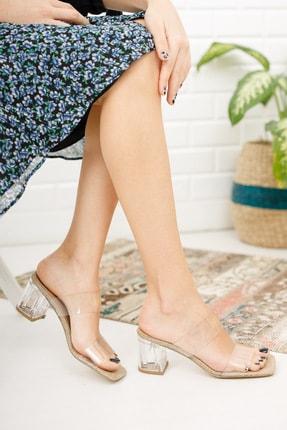 meyra'nın ayakkabıları Kadın Şeffaf Bant ve Topuk Detay Topuklu Ayakkabı 1