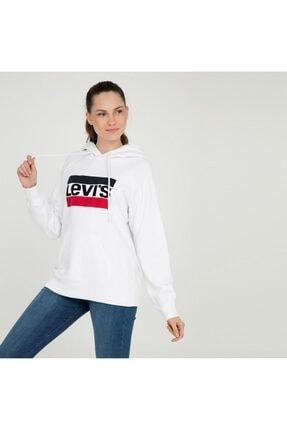 Levi's Kadın Beyaz Sweatshirt 35946-0001 2