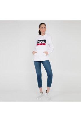 Levi's Kadın Beyaz Sweatshirt 35946-0001 4