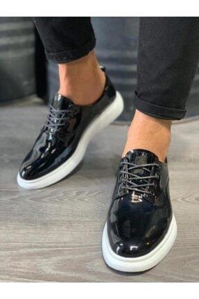 Erkek Siyah Klasik Ayakkabı 001 siyah rugan