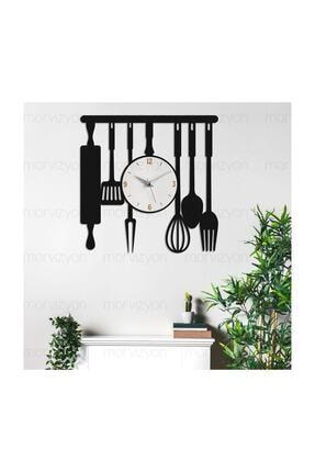 Morvizyon Mutfak Temalı Ahşap Duvar Saati 2