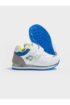 LC Waikiki Erkek Bebek Beyaz Cırtlı Sneaker Ayakkabı 2