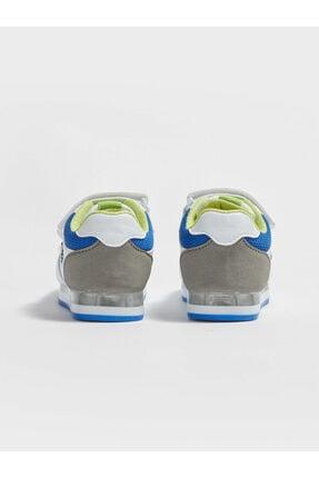 LC Waikiki Erkek Bebek Beyaz Cırtlı Sneaker Ayakkabı 3