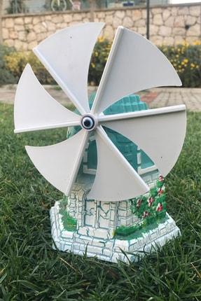 bimbambom Dekoratif Yel Değirmeni, Yeşil Alaçatı Yel Değirmeni, Büyük Bahçe Süsü 1