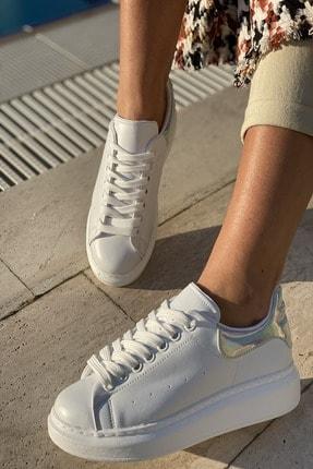İnan Ayakkabı Unisex Delik Detaylı Parçalı Sneaker 1