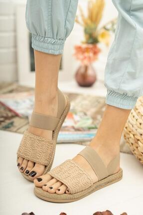 Muggo Mgnakıs03 Kadın Kahverengi Sandalet 1