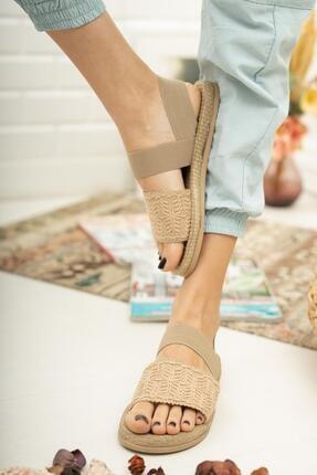 Muggo Mgnakıs03 Kadın Kahverengi Sandalet 2