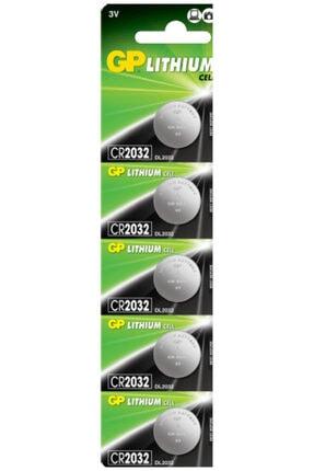 ATAELEKTRONİK 5 Adet Gp 2032 Lithium Cell Battery 3v Cr2032 Dl2032 3 Volt Garaj Kepenk Kumanda Pili 0
