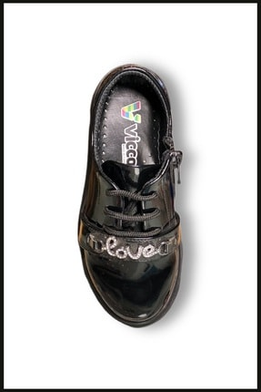 Vicco Love Fermuarlı Rugan Ayakkabı Siyah 969.v.513 4