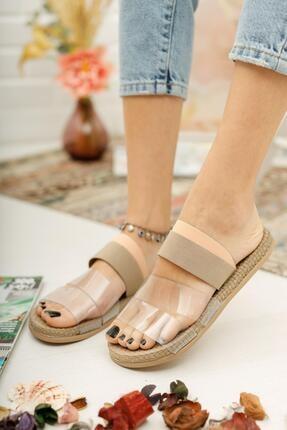 Muggo Şeritli Kadın Sandalet 1