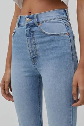 Pull & Bear Kadın Süper Yüksek Bel Slim Fit Mom Jean 4