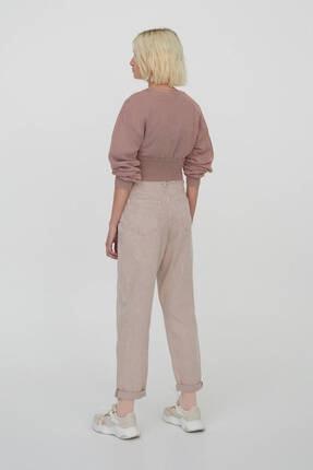 Pull & Bear Kadın Pudra Slim Fit Slouchy Pantolon 3