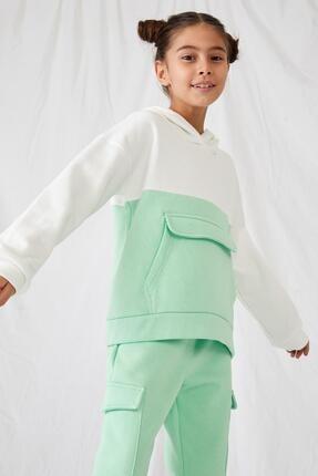 Defacto Kız Çocuk Kanguru Cepli Sweatshirt 0
