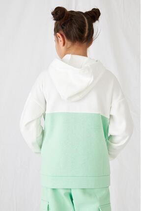 Defacto Kız Çocuk Kanguru Cepli Sweatshirt 3